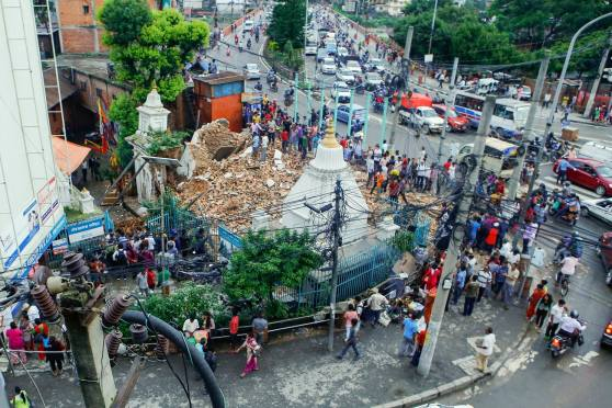 Thapathali Shiva Temple Collapses After Rainfall