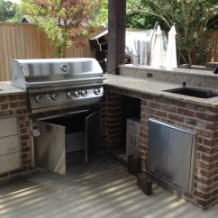 Patio Kitchen Black Canisters For How To Build An Outdoor In Houston Tx Beautiful