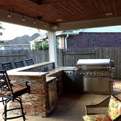 Outdoor Kitchen Cost Wire Rack To Build An In Houston