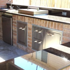 Building An Outdoor Kitchen Narrow Depth Cabinets How To Build In Houston Tx