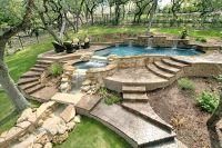 Pool Landscape Designs: Pictures of San Antonio Backyards ...