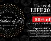 Limited time discount: 50% off 21st Annual Celebration of Life tickets