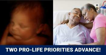 Thank you!  Two Pro-Life priorities advanced today: Reform of anti-Life 10-Day Rule and Preborn NonDiscrimination Act