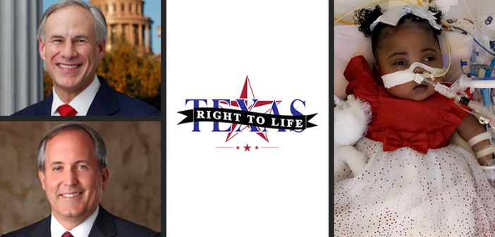 Abbott and Paxton join Texas Right to Life's effort to protect Baby Tinslee, call for countdown to be eliminated