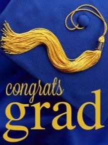 Congrats Grad cap of students who graduation from high school