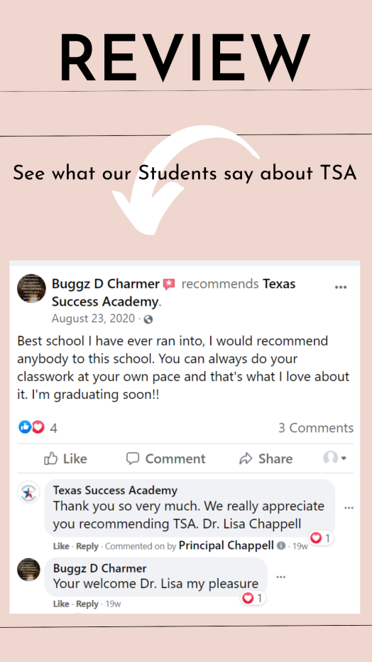 TSA 5 star review for our Adult learners