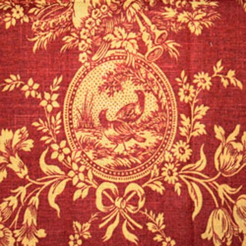 Waverly Country House Rouge Red Gold Toile French Country Home Decorating Fabric  Texassusanniecom