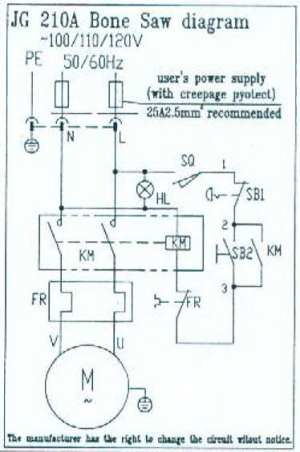 Table Model Electric Butcher Saw Wiring Diagram