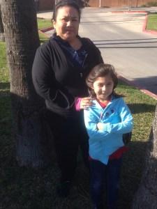 Paula Saldana and her chess master daughter