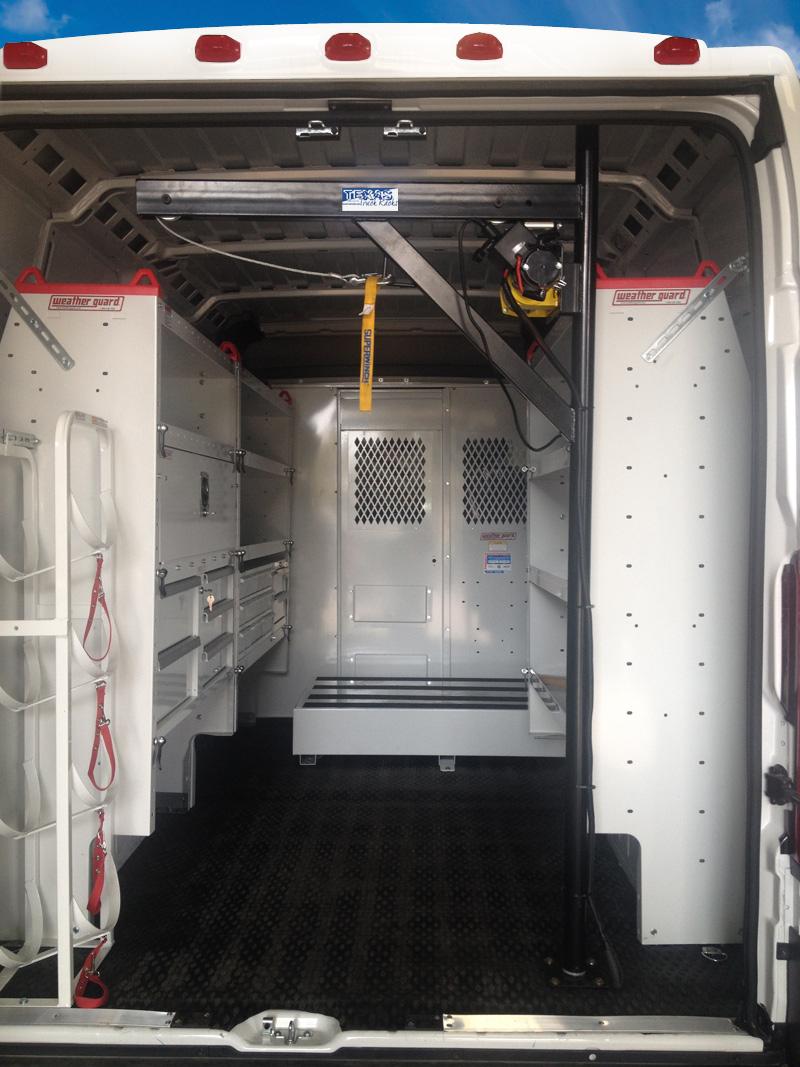 Van Hoist Kuv Sprinter Cargo Van Texas Truck Racks