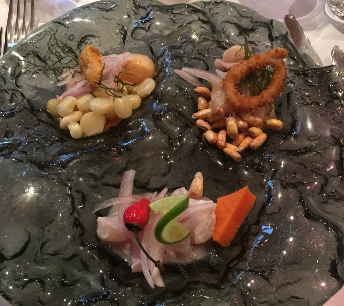 Trio of ceviche.