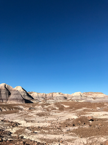 A stop to hike down into the Blue Mesa is worthwhile.