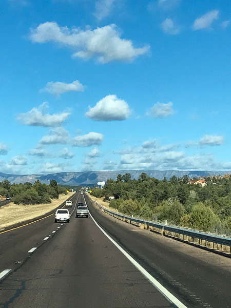 "Shortly, you will find yourself above the ""saguaro"" line and heading towards the Mogollon Rim."