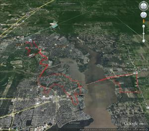 Ride Route by Google Earth