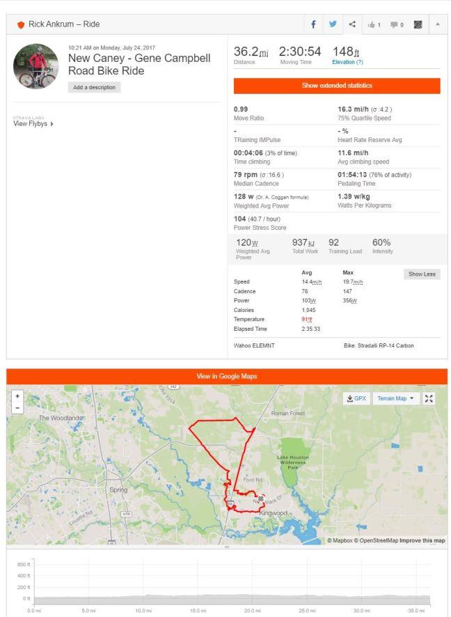 Strava bike ride summary biking bicycling