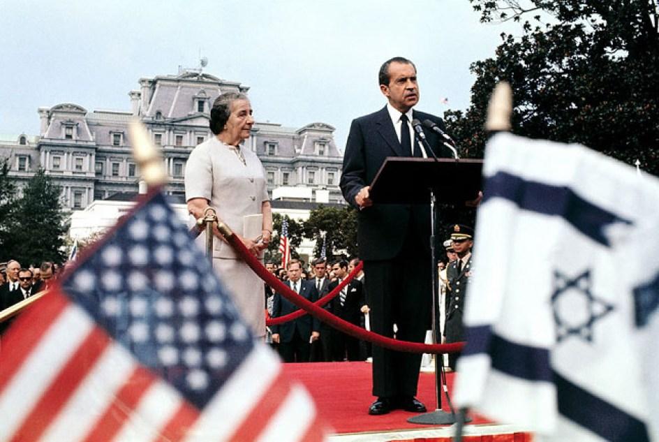 President Richard Nixon with Israeli Prime Minister Golda Meir
