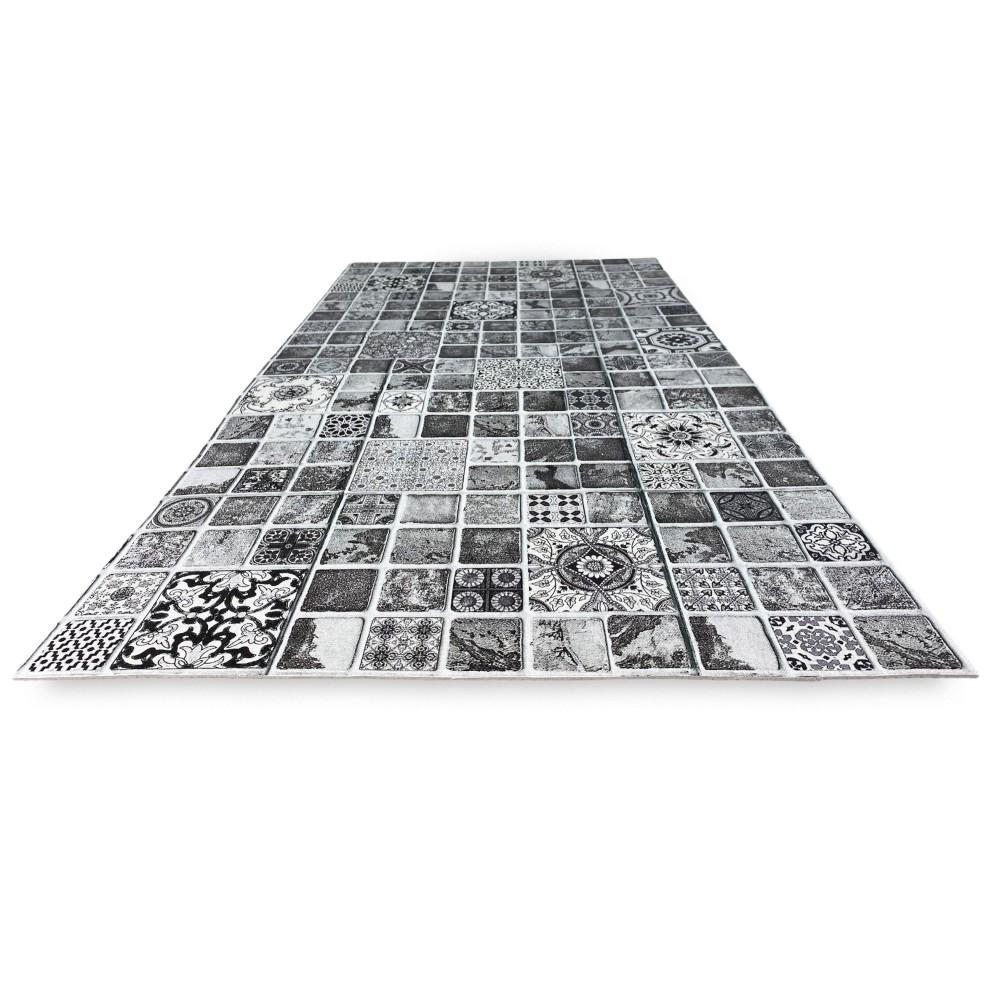 antiderapant tapis de cuisine en coton indestructible imprime avec des feuilles vertes