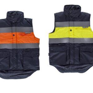 Gilet alta visibilità multi tasche bicolore