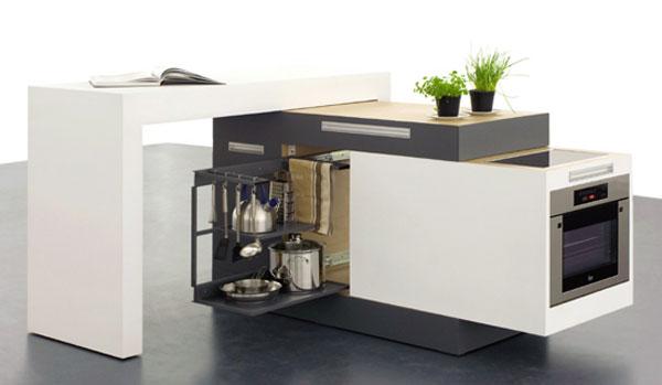 Έξυπνη και πρακτική κουζίνα για μικρά διαμερίσματα