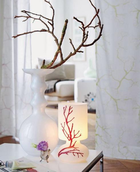Δροσεσές Ιδέες για να διακοσμήσετε το χώρο σας με κλαδιά δέντρων