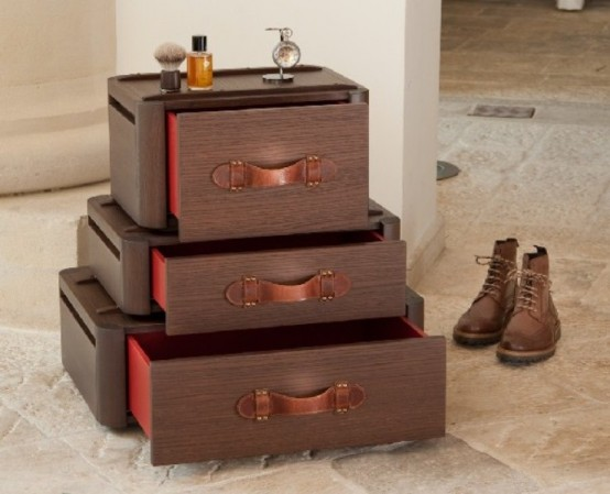 Vintage στιλ συρτάρια εμπνευσμένα από παλιές βαλίτσες