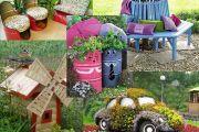 Δημιουργικές Χειροποίητες ιδέες διακοσμήσης για τον κήπο και την αυλή σας
