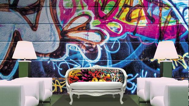 Διακοσμητικές ιδέες με Graffiti για ένα δροσερό εφηβικό δωμάτιο