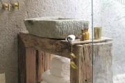Ρουστίκ ιδέες για μπάνια