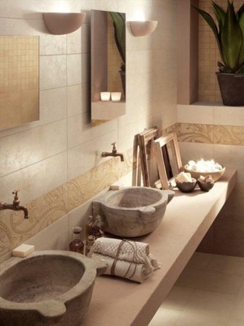 ιδέες σχεδιασμού μπάνιου από φυσική πέτρα15