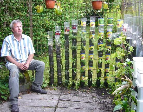 κήπος από πλαστικά μπουκάλια10