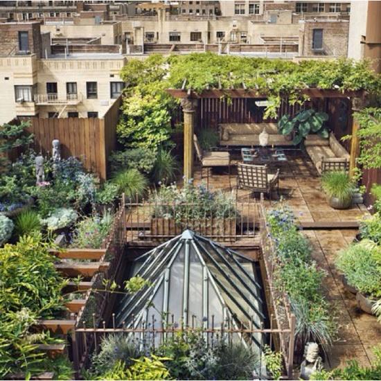 ιδέες για Κήπους στην ταράτσα 6
