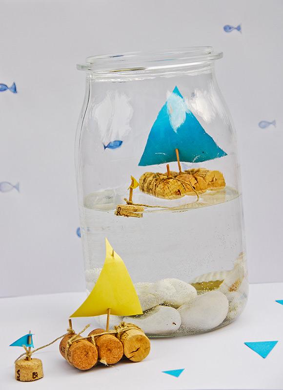 DIY Ιστιοφόρο σε βάζο από Φελλό3