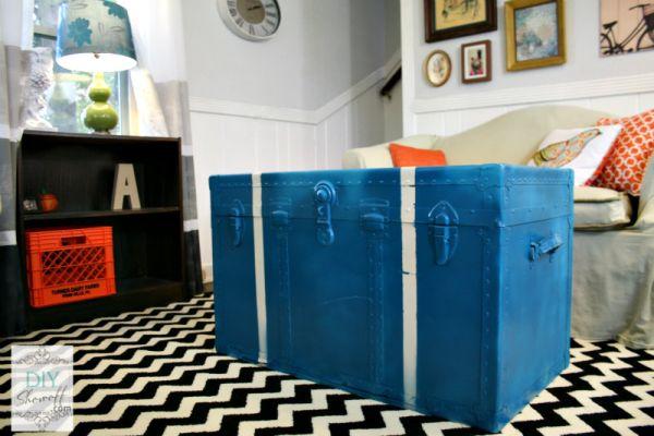 Όμορφα DIY τραπεζάκια από μπαούλα