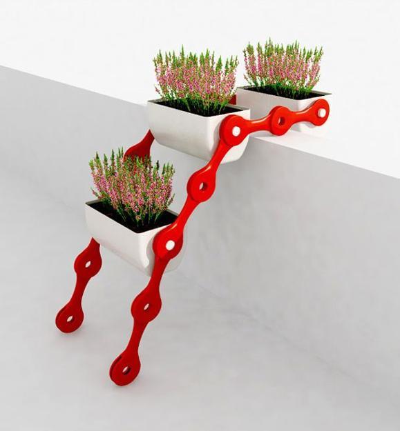 Απίθανο αρθρωτό  σύστημα  γλάστρας με βάση για μικρά μπαλκόνια και Κήπους