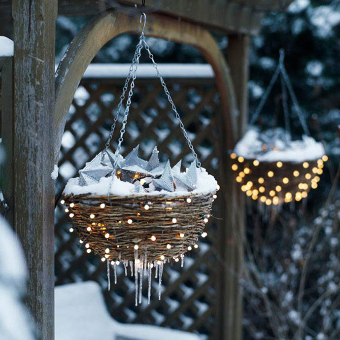 Υπέροχες Χριστουγεννιάτικες ιδέες διακόσμησης εξωτερικού φωτισμού για την αυλή και τον κήπο σας