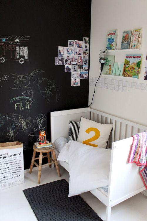 Ιδέες με Χρώμα μαυροπίνακα για παιδικό δωμάτιο1