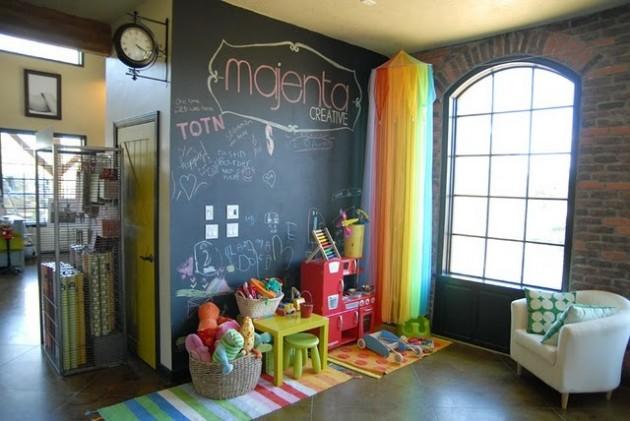 Ιδέες με Χρώμα μαυροπίνακα για παιδικό δωμάτιο13