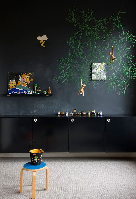 Ιδέες με Χρώμα μαυροπίνακα για παιδικό δωμάτιο17