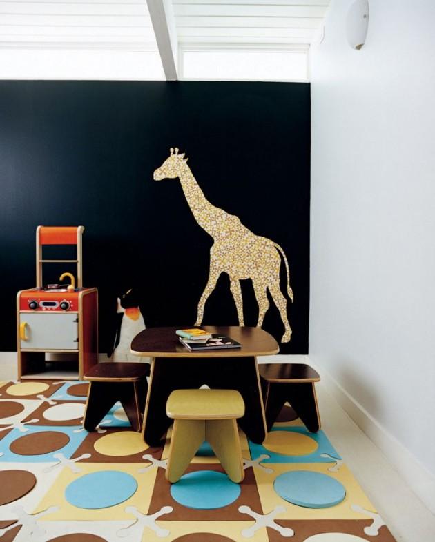 30 Διασκεδαστικές Ιδέες με Χρώμα μαυροπίνακα για παιδικό δωμάτιο