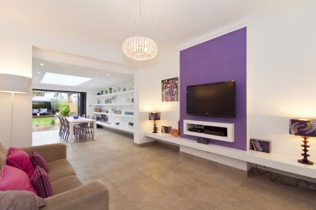 ιδέες  σχεδιασμού για να τονίσετε ένα τοίχο στο σαλόνι σας20