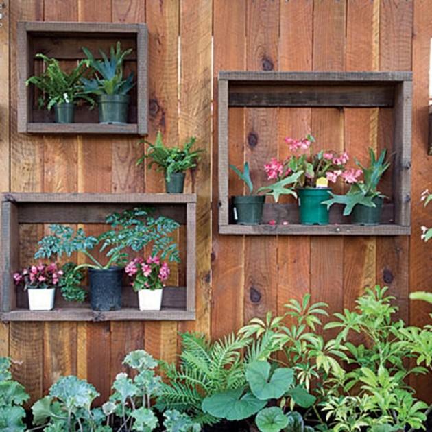 DIY WallArt Ιδέες για τον φράχτη του Κήπου σας19