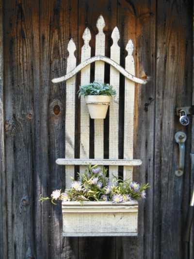 DIY WallArt Ιδέες για τον φράχτη του Κήπου σας22