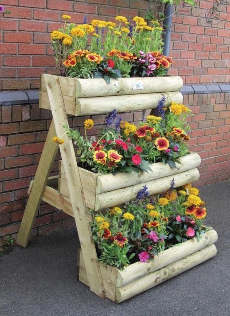 Υπέροχες ιδέες με ξύλινες γλάστρες