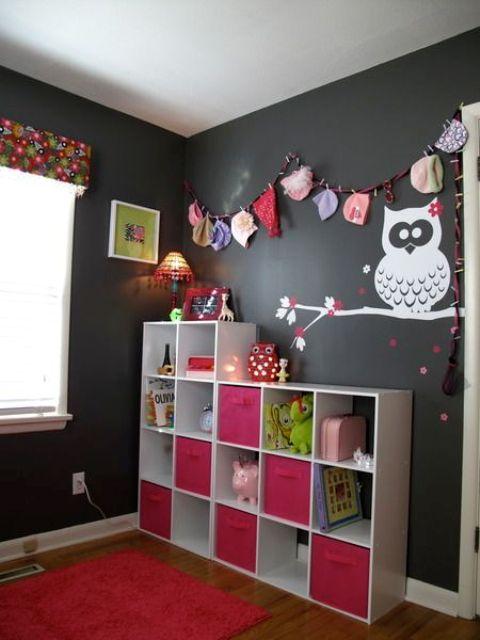 Ιδέες ντεκόρ μαυροπίνακα για παιδικά δωμάτια26