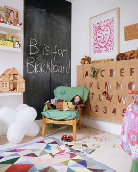Ιδέες ντεκόρ μαυροπίνακα για παιδικά δωμάτια7