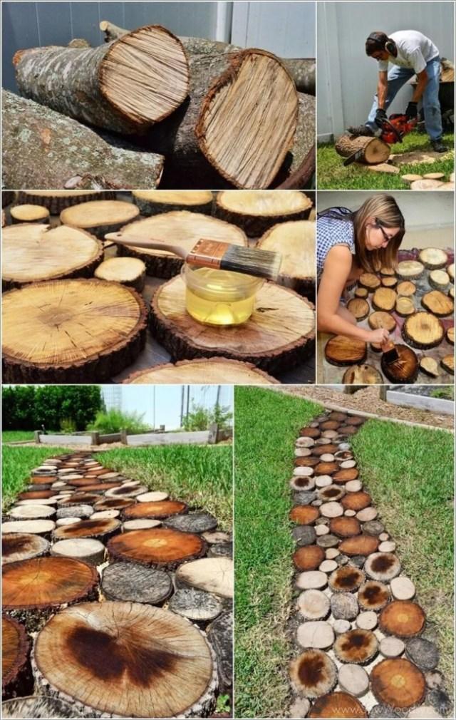 ιδέες για να διακοσμήσετε τον κήπο σας με κορμούς δέντρων ή κούτσουρα2