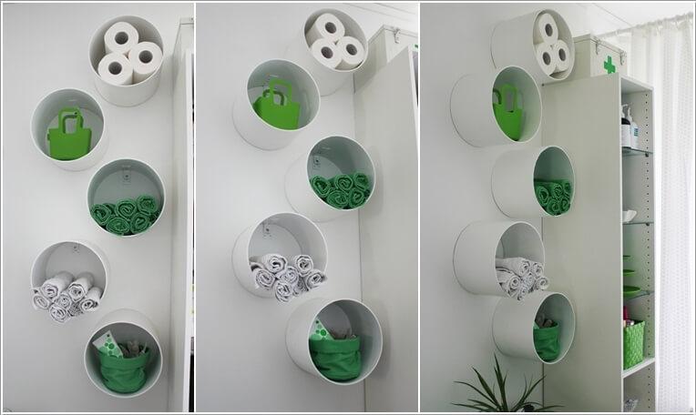 Ιδέες για να δημιουργήστε χώρο αποθήκευσης στον τοίχο του μπάνιου σας10