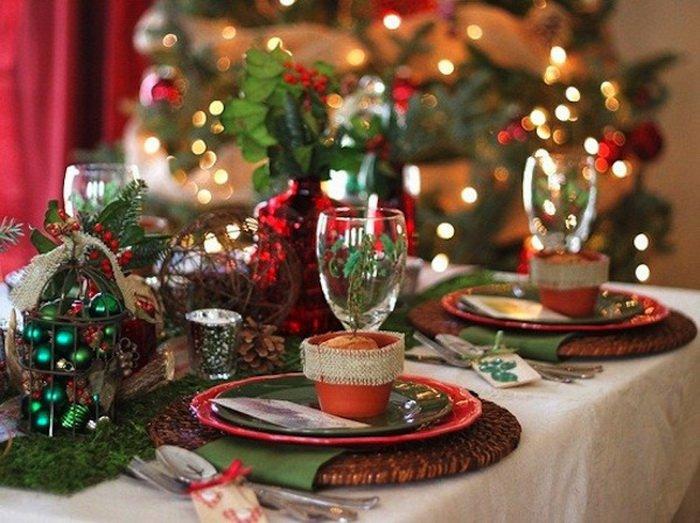 διακοσμήσεις Χριστουγεννιάτικων τραπεζιών1