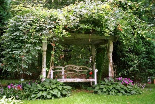 Ρουστίκ διακόσμηση κήπου60