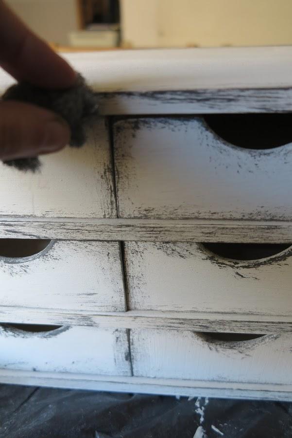 DIY Vintage συρτάρια με τεχνική πατίνας6